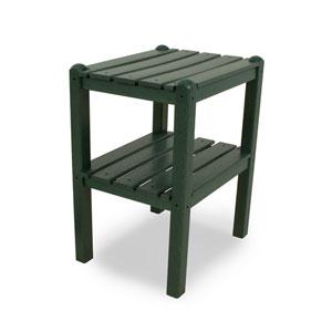 Green Two Shelf Side Table