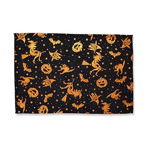 Black and Orange Metallic Halloween Placemat