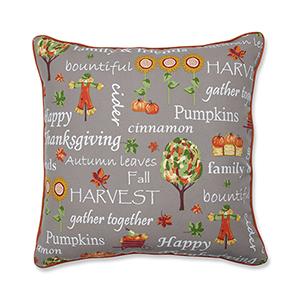 Multicolor Autumn Harvest Haystack Indoor or Outdoor Floor Pillow