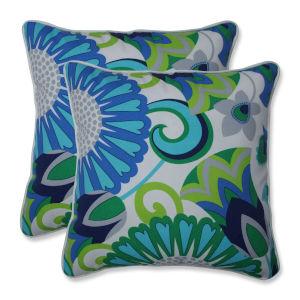 Sophia Green Blue Gray 16-Inch Throw Pillow