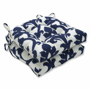 Basalto Blue White Large Chairpad, Set of Two