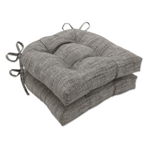 Remi Brown Gray Large Chairpad, Set of Two