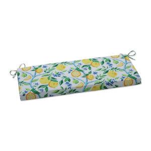 Lemon Yellow Blue Green Bench Cushion
