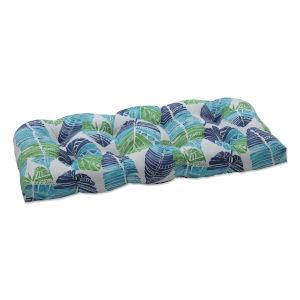 Hixon Blue Green Tan Loveseat Cushion