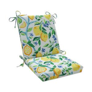 Lemon Yellow Blue Green Chair Cushion