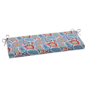 Moroccan Blue Red Yellow Bench Cushion