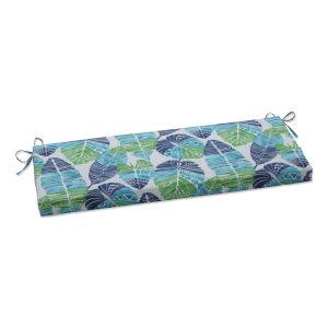 Hixon Blue Green Tan Bench Cushion