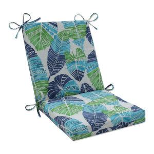 Hixon Blue Green Tan Chair Cushion