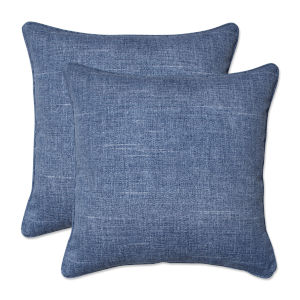 Tory Blue 18-Inch Throw Pillow, Set of Two