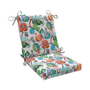 Tropical Green Blue Multicolor Chair Cushion