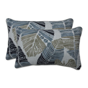Hixon Black Tan Gray Throw Pillow, Set of Two