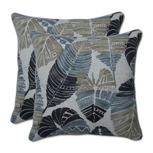Hixon Black Tan Gray 18-Inch Throw Pillow, Set of Two