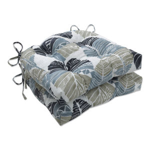 Hixon Black Tan Gray Large Chairpad, Set of Two