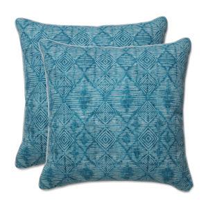 Nesco Blue Off-White 18-Inch Throw Pillow, Set of Two