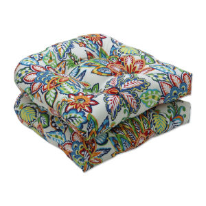 Copeland Blue Green Multicolor Seat Cushion, Set of Two