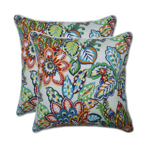 Copeland Blue Green Multicolor 18-Inch Throw Pillow, Set of Two