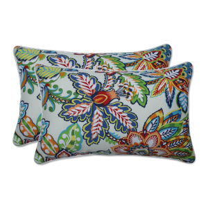Copeland Blue Green Multicolor Throw Pillow, Set of Two