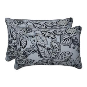 Copeland Black Gray Throw Pillow, Set of Two