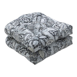 Copeland Black Gray Seat Cushion, Set of Two