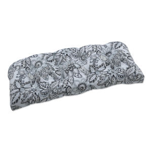 Copeland Black Gray Loveseat Cushion
