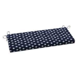Macey Blue White Bench Cushion