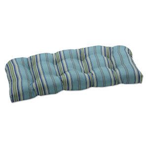 Terrace Blue Green Natural Loveseat Cushion