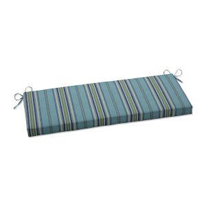 Terrace Blue Green Natural Bench Cushion