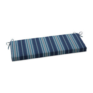Terrace Blue Gray Off-White Bench Cushion