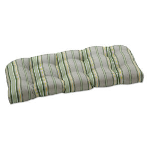 Terrace Green Natural Yellow Loveseat Cushion