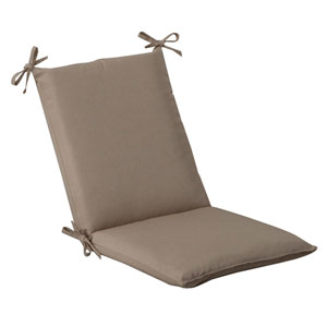 Outdoor Beige Solid Chair Cushion Squared
