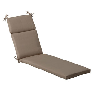 Outdoor Beige Solid Chaise Lounge Cushion