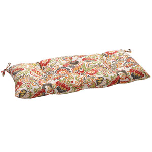 Outdoor Multicolored Floral Tufted Loveseat Cushion