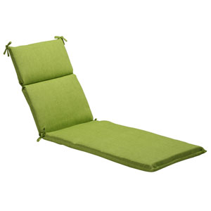 Outdoor Green Textured Solid Chaise Lounge Cushion