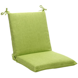 Outdoor Green Textured Solid Chair Cushion Squared