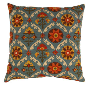 Mayan Medallion 24.5-Inch Floor Pillow in Adobe