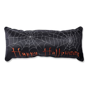 Black Halloween Rectangular Throw Pillow