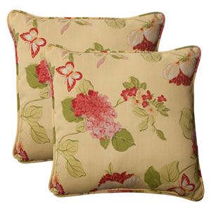 Outdoor Risa Corded 18.5-Inch Throw Pillow in Lemonade, Set of Two