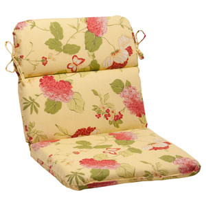 Outdoor Risa Rounded Chair Cushion in Lemonade