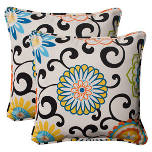 Pom Pom Play Corded 18.5-Inch Throw Pillow in Lagoon, Set of Two