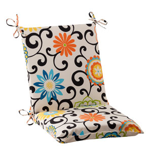 Pom Pom Play Squared Chair Cushion in Lagoon