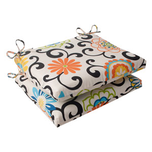 Pom Pom Play Squared Seat Cushion in Lagoon, Set of Two