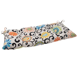 Pom Pom Play Tufted Loveseat Cushion in Lagoon
