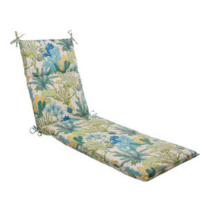 Outdoor Splish Splash Chaise Lounge Cushion in Blue