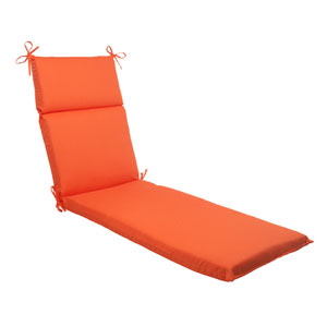 Outdoor Sundeck Chaise Lounge Cushion in Orange