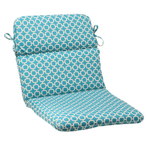 Outdoor Hockley Rounded Chair Cushion in Teal