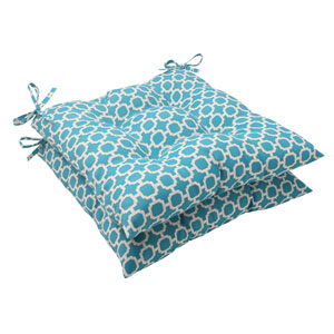 Outdoor Hockley Tufted Seat Cushion in Teal, Set of Two