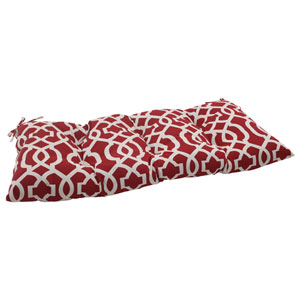 Outdoor New Geo Tufted Loveseat Cushion in Red