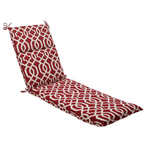 Outdoor New Geo Chaise Lounge Cushion in Red