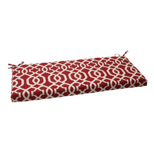 Outdoor New Geo Bench Cushion in Red