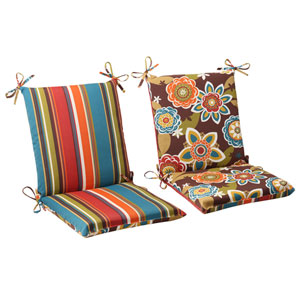 Outdoor Annie|Westport Reversible Squared Chair Cushion in Chocolate